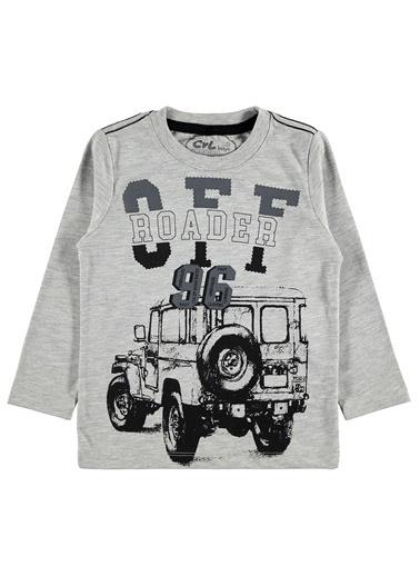 Cvl Erkek Çocuk Roader Baskılı Sweatshirt Renkli